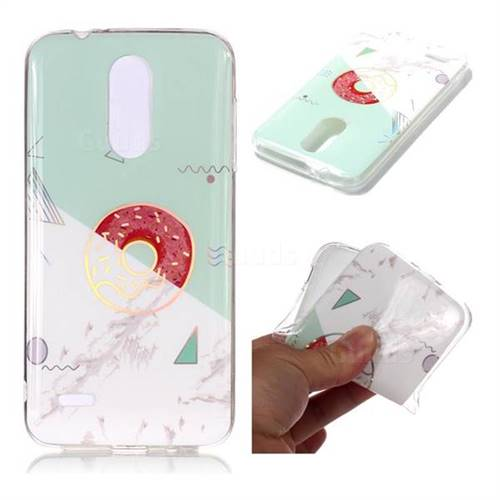 Donuts Marble Pattern Bright Color Laser Soft TPU Case for LG K8 (2018)