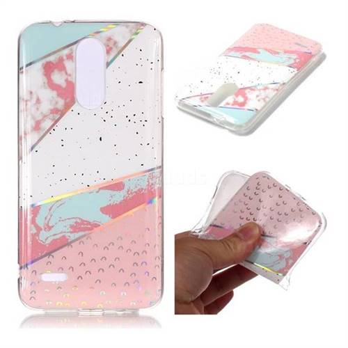 Matching Color Marble Pattern Bright Color Laser Soft TPU Case for LG K8 (2018) / LG K9