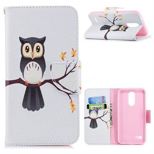Owl on Tree Leather Wallet Case for LG K8 (2018) / LG K9