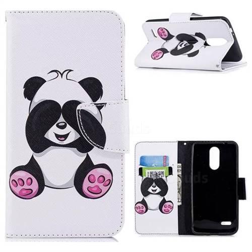 Lovely Panda Leather Wallet Case for LG K8 (2018)