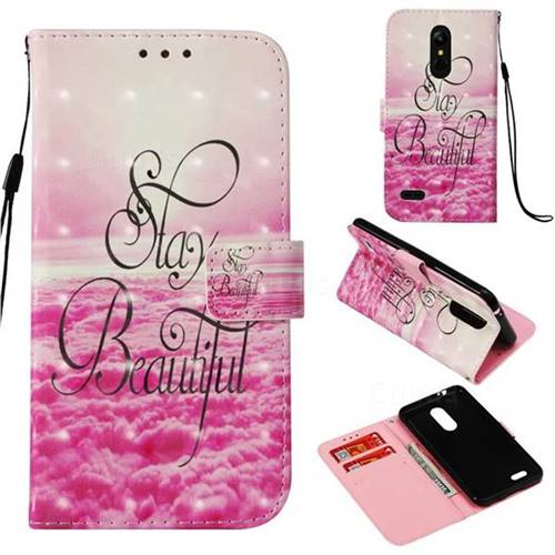 Beautiful 3D Painted Leather Wallet Case for LG K8 (2018) / LG K9