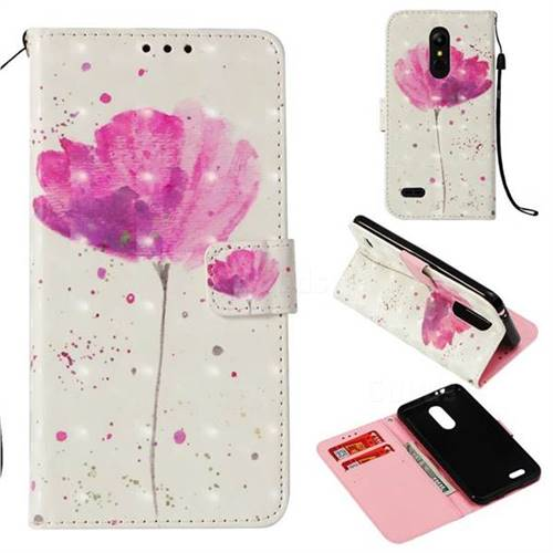Watercolor 3D Painted Leather Wallet Case for LG K8 (2018) / LG K9