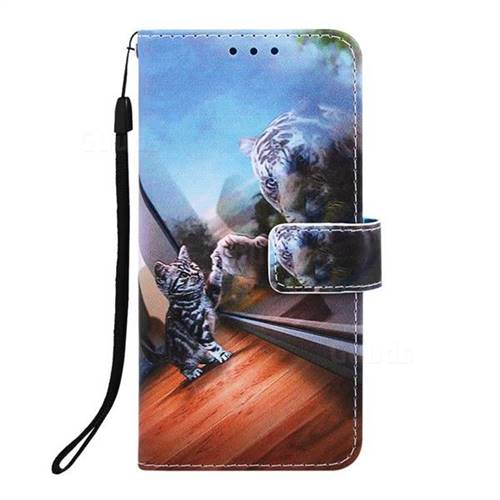 low priced a1dd4 5c877 Mirror Cat Matte Leather Wallet Phone Case for LG K8 (2018)