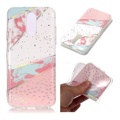 Matching Color Marble Pattern Bright Color Laser Soft TPU Case for LG Q7 / Q7+ / Q7 Alpha / Q7α