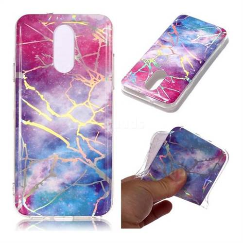 Dream Sky Marble Pattern Bright Color Laser Soft TPU Case for LG Q7 / Q7+ / Q7 Alpha / Q7α