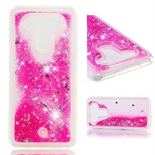 Dynamic Liquid Glitter Quicksand Sequins TPU Phone Case for LG Q8(2017, 5.2 inch) - Rose