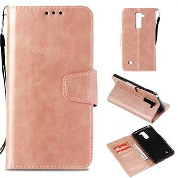 new product 41799 35e3e Retro Phantom Smooth PU Leather Wallet Holster Case for LG Stylo 2 LS775  Criket - Rose Gold