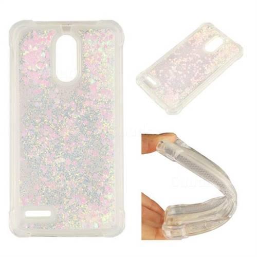 Dynamic Liquid Glitter Sand Quicksand Star TPU Case for LG Stylus 3 Stylo3 K10 Pro LS777 M400DK - Pink
