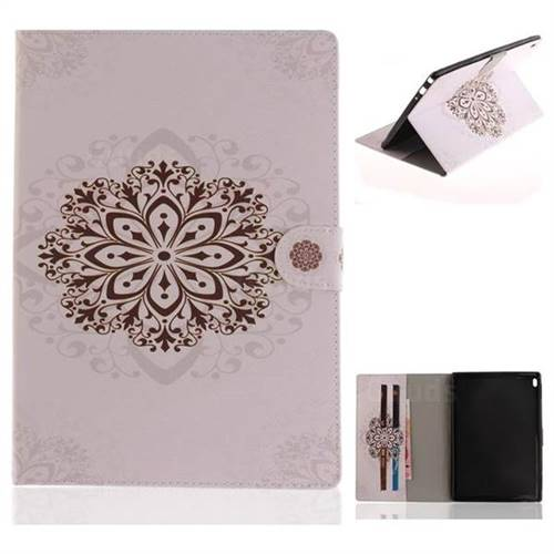 Datura Flowers Painting Tablet Leather Wallet Flip Cover for Lenovo Tab4 10 (Lenovo TB-X304F/L)