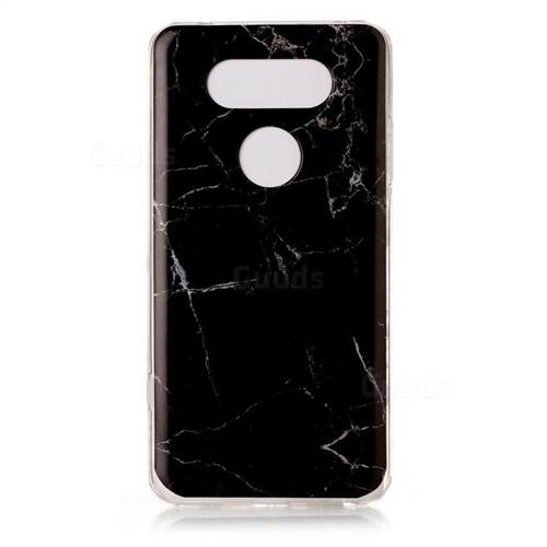 Black Soft TPU Marble Pattern Case for LG V20