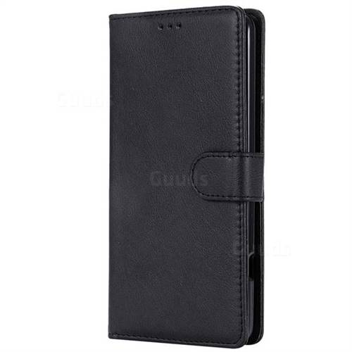 Retro Greek Detachable Magnetic PU Leather Wallet Phone Case for LG V20 -  Black