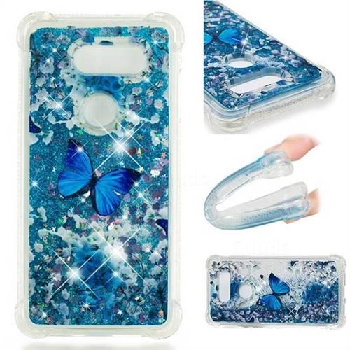 Flower Butterfly Dynamic Liquid Glitter Sand Quicksand Star TPU Case for LG V30