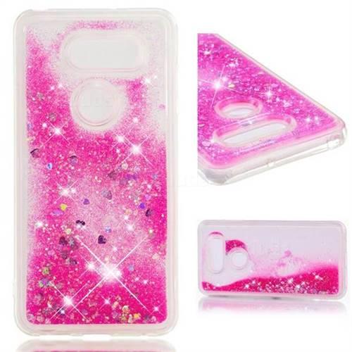 Dynamic Liquid Glitter Quicksand Sequins TPU Phone Case for LG V30 - Rose