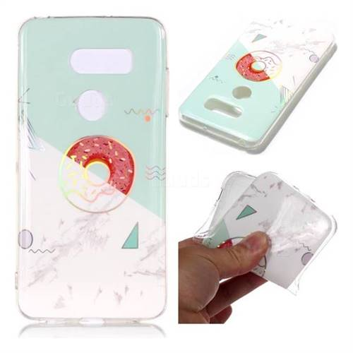 Donuts Marble Pattern Bright Color Laser Soft TPU Case for LG V35 ThinQ (LG V35+ ThinQ)