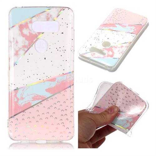 Matching Color Marble Pattern Bright Color Laser Soft TPU Case for LG V35 ThinQ (LG V35+ ThinQ)