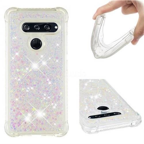 Dynamic Liquid Glitter Sand Quicksand Star TPU Case for LG V40 ThinQ - Pink
