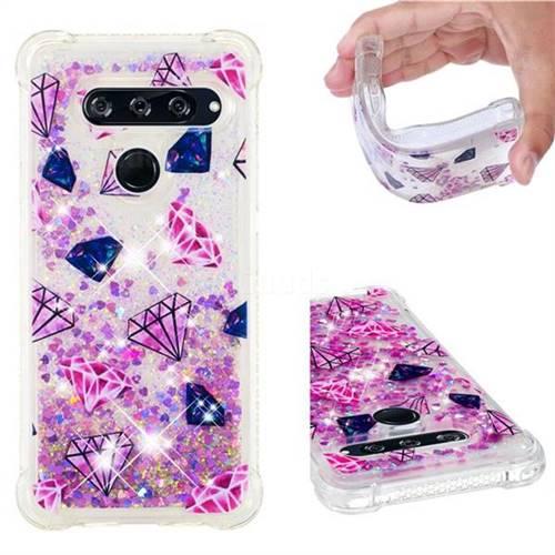 Diamond Dynamic Liquid Glitter Sand Quicksand Star TPU Case for LG V40 ThinQ
