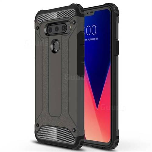 King Kong Armor Premium Shockproof Dual Layer Rugged Hard Cover for LG V40 ThinQ - Bronze
