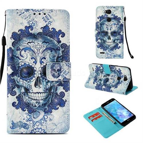 Cloud Kito 3D Painted Leather Wallet Case for LG X Power 3