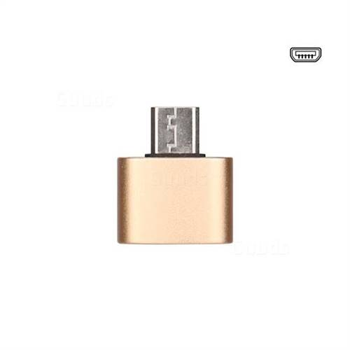 Aluminum Alloy Micro USB OTG Connector Adapter - Golden