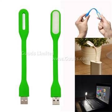 Flexible USB Portable LED Light Lamp For PC Notebook Laptop Power Bank    Green