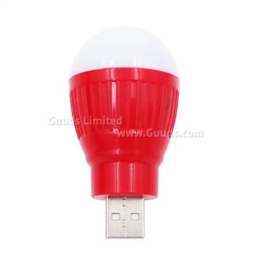 Portable Usb 1w Ball Bulb Super Bright Mini Led Night Light Red