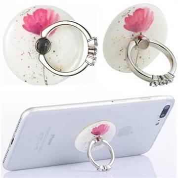 Flexible Universal 360 Rotation Stylish Holder Finger Ring Kickstand for Mobile Phone Folding - Watercolor