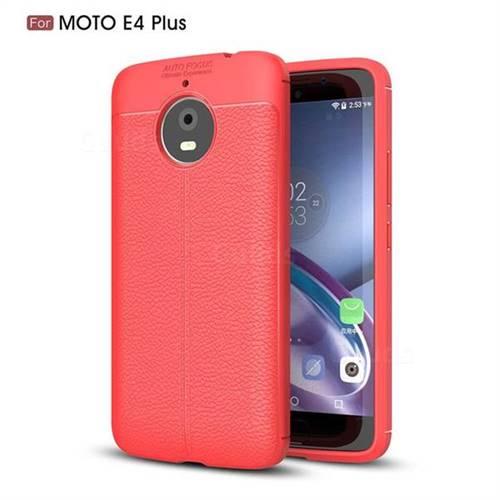 Luxury Auto Focus Litchi Texture Silicone TPU Back Cover for Motorola Moto E4(Europe) - Red