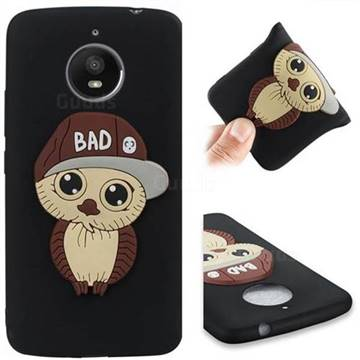 Bad Boy Owl Soft 3D Silicone Case for Motorola Moto E4 Plus(Europe) - Black