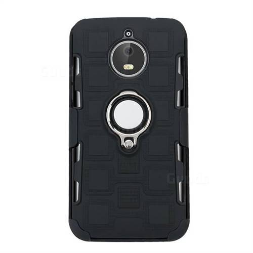 buy popular ab458 f7737 3 in 1 PC + Silicone Leather Phone Case for Motorola Moto E4 Plus(Europe) -  Black