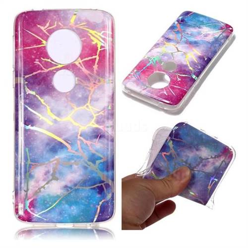 Dream Sky Marble Pattern Bright Color Laser Soft TPU Case for Motorola Moto E5