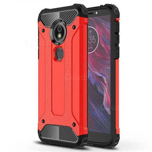 King Kong Armor Premium Shockproof Dual Layer Rugged Hard Cover for Motorola Moto E5 - Big Red