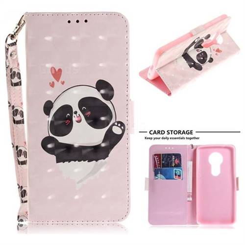 Heart Cat 3D Painted Leather Wallet Phone Case for Motorola Moto E5