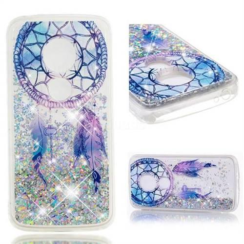 Dynamic Liquid Glitter Quicksand Soft TPU Case for Motorola Moto E5 Plus - Fantasy Wind Chimes