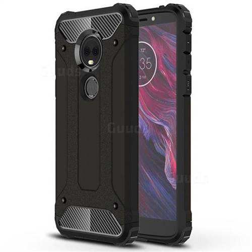 King Kong Armor Premium Shockproof Dual Layer Rugged Hard Cover for Motorola Moto E5 Plus - Black Gold