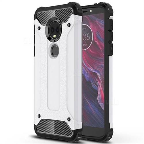 King Kong Armor Premium Shockproof Dual Layer Rugged Hard Cover for Motorola Moto E5 Plus - White