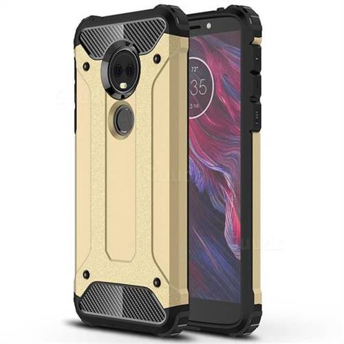 King Kong Armor Premium Shockproof Dual Layer Rugged Hard Cover for Motorola Moto E5 Plus - Champagne Gold