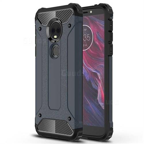 King Kong Armor Premium Shockproof Dual Layer Rugged Hard Cover for Motorola Moto E5 Plus - Navy