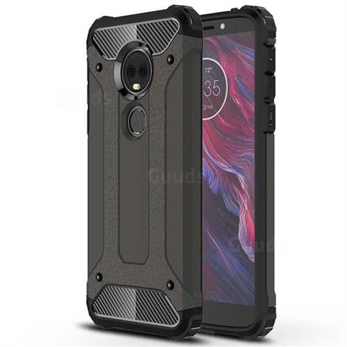 King Kong Armor Premium Shockproof Dual Layer Rugged Hard Cover for Motorola Moto E5 Plus - Bronze
