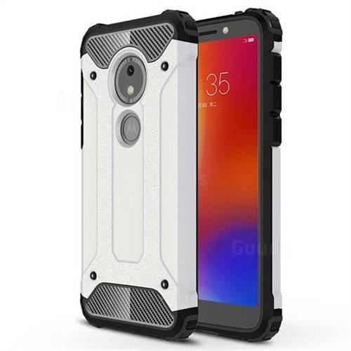 King Kong Armor Premium Shockproof Dual Layer Rugged Hard Cover for Motorola Moto E5 Play Go - White