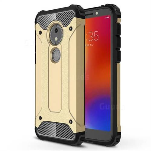 King Kong Armor Premium Shockproof Dual Layer Rugged Hard Cover for Motorola Moto E5 Play Go - Champagne Gold