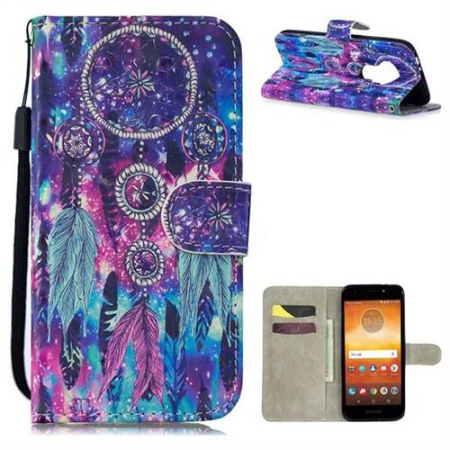 best loved 61643 0a4f7 Star Wind Chimes 3D Painted Leather Wallet Phone Case for Motorola ...