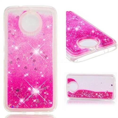 Dynamic Liquid Glitter Quicksand Sequins TPU Phone Case for Motorola Moto E5 Play - Rose
