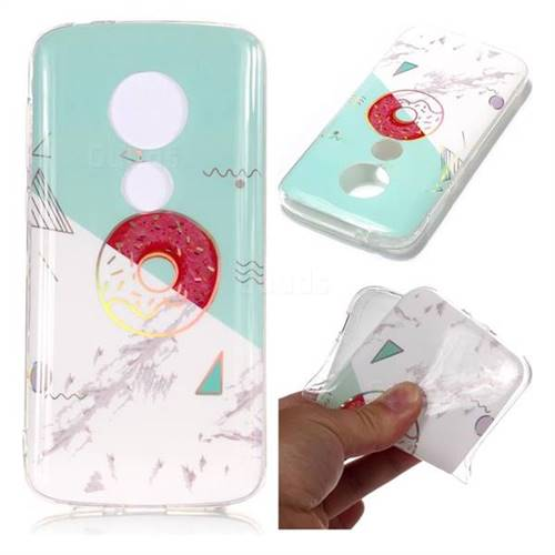 Donuts Marble Pattern Bright Color Laser Soft TPU Case for Motorola Moto E5 Play
