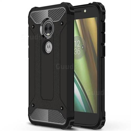 King Kong Armor Premium Shockproof Dual Layer Rugged Hard Cover for Motorola Moto E5 Play (Moto E5 Cruise) - Black Gold