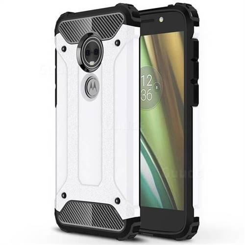 King Kong Armor Premium Shockproof Dual Layer Rugged Hard Cover for Motorola Moto E5 Play (Moto E5 Cruise) - White