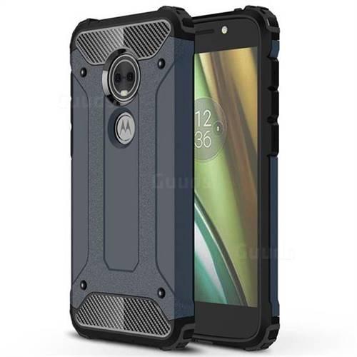 King Kong Armor Premium Shockproof Dual Layer Rugged Hard Cover for Motorola Moto E5 Play (Moto E5 Cruise) - Navy