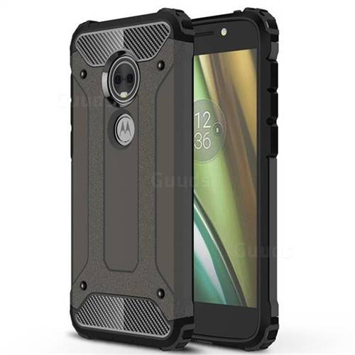 King Kong Armor Premium Shockproof Dual Layer Rugged Hard Cover for Motorola Moto E5 Play (Moto E5 Cruise) - Bronze