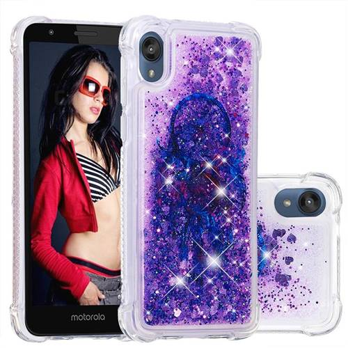 Retro Wind Chimes Dynamic Liquid Glitter Sand Quicksand Star TPU Case for Motorola Moto E6