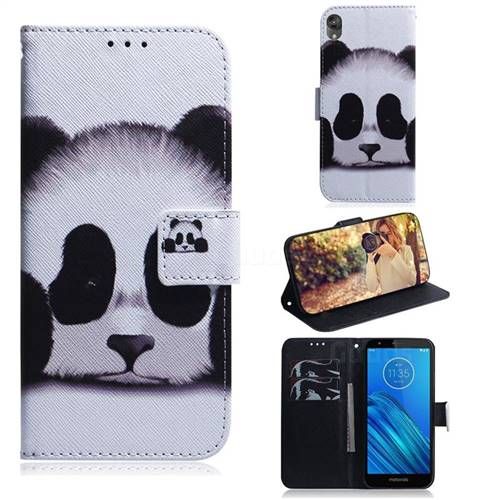 Sleeping Panda PU Leather Wallet Case for Motorola Moto E6